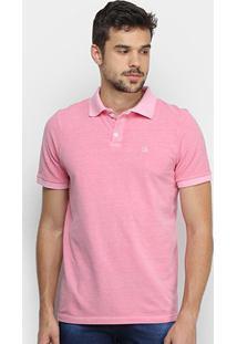 Camisa Polo Derek Ho Tinturada Piquet Básica Masculina - Masculino-Rosa Claro