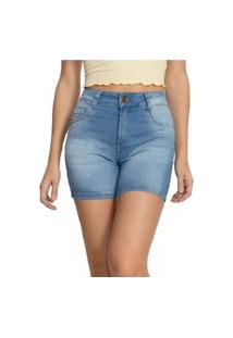 Bermuda Jeans Biotipo Meia Coxa Azul Claro