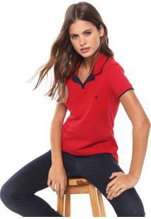 Camisa Polo Malwee Listra Vermelho