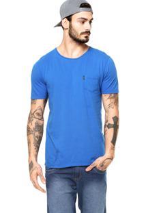Camiseta Manga Curta Redley Bolso Azul