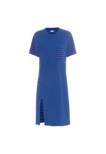 Vestido Rusty Mix Stripes - Azul