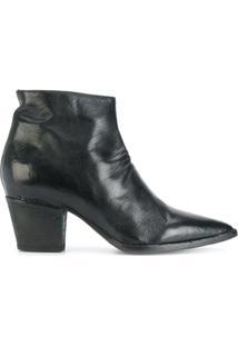 Officine Creative Ankle Boot De Couro Com Zíper Lateral - Preto