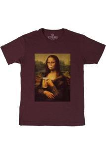 Camiseta Stoned Monabeer Masculina - Masculino-Bordô