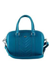 Bolsa Feminina Mayon 5218 Baú Mini Em Couro Azul Real