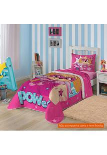 Edredom Infantil Patrulha Canina (150X200) Algodão Pink