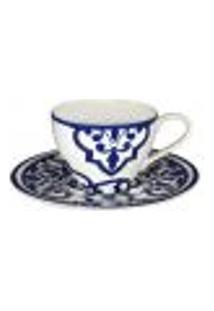 Jogo 12 Peças Porcelana Para Chá Turkish Delight