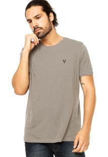 Camiseta Vr Básica Textura Cinza