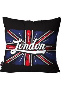Capa De Almofada Decorativa Avulsa Preto London 45X45Cm Pump Up