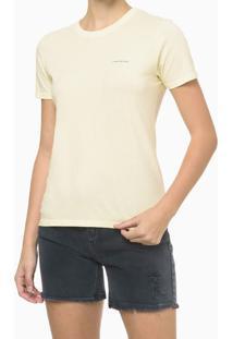 Blusa Mc Slim Meia Reat Gc Logo Peito - Amarelo Claro - M