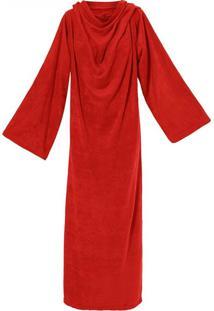 Cobertor Solteiro Loani Soft Tv Com Mangas Vermelho