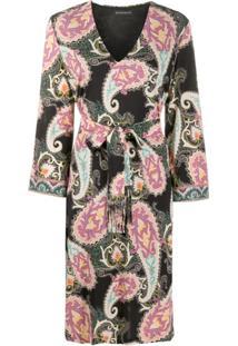 Etro Vestido Reto Com Estampa Paisley - Preto