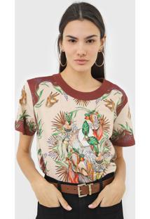 Camiseta Colcci Estampada Bege - Kanui