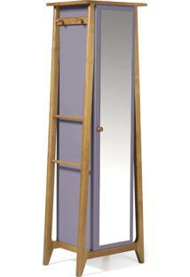 Armário Multiuso 1 Porta Stoka 981 Nogal/Lilás - Maxima