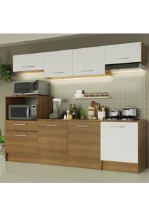 Cozinha Completa Madesa Onix 240003 Com Armã¡Rio E Balcã£O - Rustic/Branco 5Z9B Marrom - Marrom - Dafiti