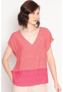 Blusa Geométricarosa & Vermelhahering