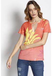 Camiseta Floral - Laranja & Amarela - Sommersommer