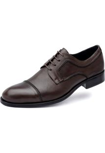 Derby Jacometti Cap Toe Café 334005