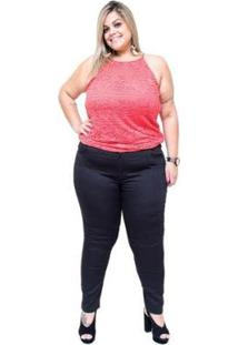 Calça Jeans Bokker Plus Size Skinny Erida Feminina - Feminino-Preto