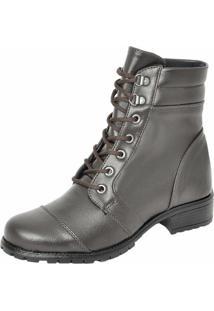 9f20a4bb55 Bota Coturno Militar Motociclista Feminina Top Franca Shoes Cafe