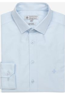 Camisa Dudalina Tricoline Liso Masculina (Azul Claro, 43)