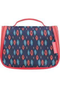 Nécessaire De Viagem - Azul Marinho & Pink - 17X22X1Jacki Design