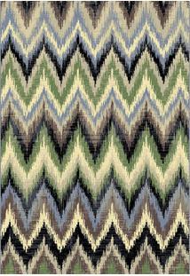 Tapete Egipcio Ferrera 1.33X1.90M Desenho 8029 Cor Bege C/ Verde - Tapete Egipcio Ferrera E3 1.33X1.90 8029 Cor I