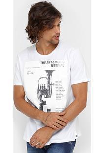 Camiseta Colcci Estampa Lavada Masculina - Masculino