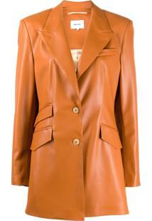 Nanushka Cancun Vegan Leather Jacket - Laranja