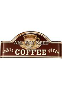 Placa De Metal Decorativa Vintage Need Coffee
