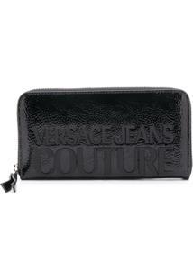 Versace Jeans Couture Carteira Com Logo Gravado - Preto