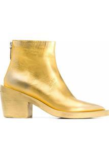 Marsèll Ankle Boot Metalizada - Dourado