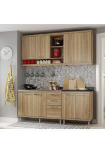 Cozinha Completa Com Balcão Sem Tampo 4 Peças 8 Portas Sicília Multimóveis Argila