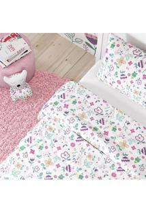 Edredom Infantil Menina Floral Moderna Algodã£O Grã£O De Gente Roxo - Roxo - Menina - Dafiti