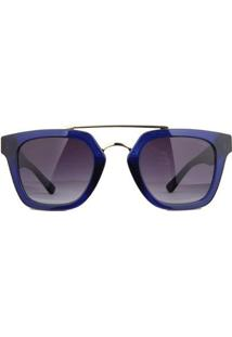 Óculos De Sol Atitude Feminino - Feminino-Azul