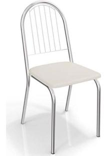 Cadeira Kappesberg Noruega 4C077 (4 Unidades) Croma/Branco