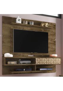 Painel Para Tv Até 60 Polegadas 1 Porta 4 Prateleiras Búzios 2075218 Rústico/3D - Bechara Móveis