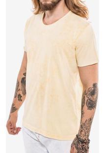 Camiseta Básica Amarela Marmorizada 102858