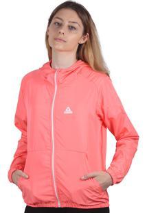 Jaqueta Corta Vento Feminina Additive Logo Rosa Neon - Tricae