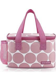 Bolsa Tã©Rmica Com Bolso Externo Jacki Design Ahl19850 Rosa - Rosa - Feminino - Dafiti