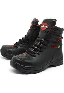 Bota Bell-Boots Adventure/Motoqueiro 2030 - Preto/Vermelho