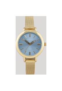 Relógio Analógico Mondaine Feminino - 76616Lpmvde3 Dourado