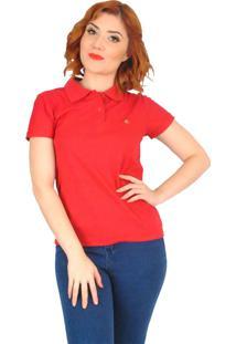 Camisa Polo Cherry Pie Logo Vermelha