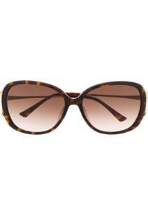 Gucci Eyewear Óculos De Sol Quadrado Gg0649Sk - Marrom