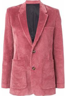 Ami Paris Blazer Com Abotoamento E Forro - Rosa
