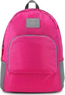 Mochila Dobrável De Poliéster Jacki Design Viagem Pink
