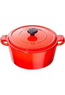 Caçarola Fontignac Redonda Ferro Vermelho 24Cm - 30750