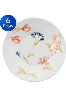 Conjunto Pratos Fundos 06 Peças May - Biona Cerâmica - Colorido