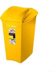 Lixeira Seletiva 40 Litros Amarela Sanremo