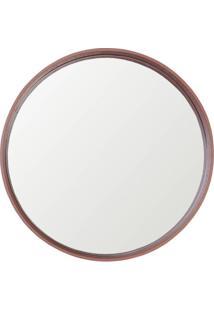 Espelho Manaus Redondo Prata Borda Cobre 40Cm - 60284 - Sun House