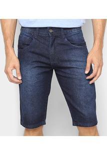 Bermuda Jeans Biotipo Masculina - Masculino-Azul Escuro